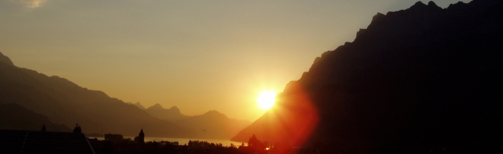 Sonnenuntergang Walensee